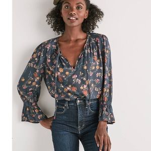 512f61c17cd ... Lucky Brand    NWOT floral bell sleeve blouse ...